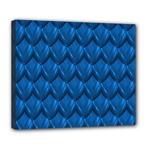 Blue Dragon Snakeskin Skin Snake Wave Chefron Deluxe Canvas 24  X 20   by Mariart