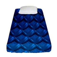 Blue Dragon Snakeskin Skin Snake Wave Chefron Fitted Sheet (single Size)