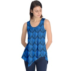 Blue Dragon Snakeskin Skin Snake Wave Chefron Sleeveless Tunic by Mariart