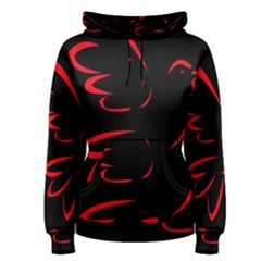 Dove Red Black Fly Animals Bird Women s Pullover Hoodie