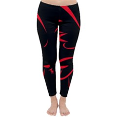 Dove Red Black Fly Animals Bird Classic Winter Leggings by Mariart