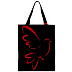 Dove Red Black Fly Animals Bird Zipper Classic Tote Bag by Mariart