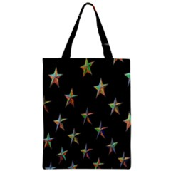 Colorful Gold Star Christmas Zipper Classic Tote Bag by Mariart