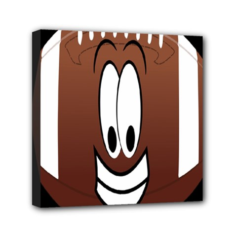 Happy Football Clipart Excellent Illustration Face Mini Canvas 6  X 6  by Mariart