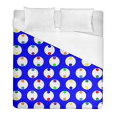 Easter Egg Fabric Circle Blue White Red Yellow Rainbow Duvet Cover (full/ Double Size) by Mariart
