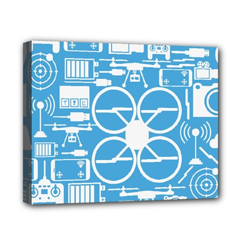 Drones Registration Equipment Game Circle Blue White Focus Canvas 10  X 8  by Mariart