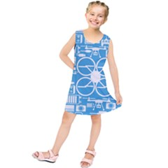 Drones Registration Equipment Game Circle Blue White Focus Kids  Tunic Dress by Mariart
