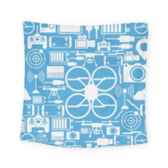 Drones Registration Equipment Game Circle Blue White Focus Square Tapestry (small)