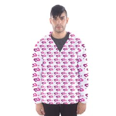 Heart Love Pink Purple Hooded Wind Breaker (men) by Mariart