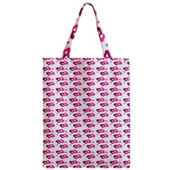 Heart Love Pink Purple Zipper Classic Tote Bag by Mariart