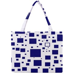 Illustrated Blue Squares Mini Tote Bag by Mariart
