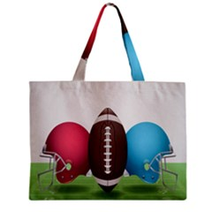 Helmet Ball Football America Sport Red Brown Blue Green Zipper Mini Tote Bag by Mariart