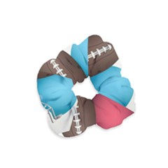 Helmet Ball Football America Sport Red Brown Blue Green Velvet Scrunchie by Mariart