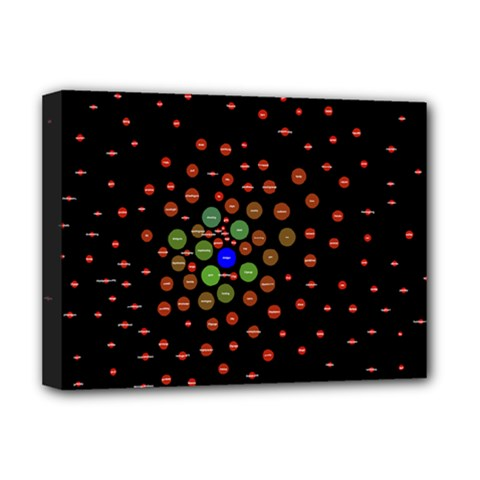Molecular Chemistry Of Mathematical Physics Small Army Circle Deluxe Canvas 16  X 12   by Mariart