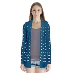 Parachute Water Blue Waves Circle White Cardigans by Mariart