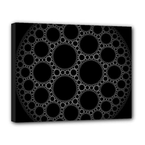 Plane Circle Round Black Hole Space Canvas 14  X 11  by Mariart