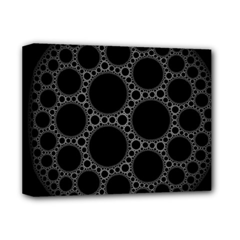 Plane Circle Round Black Hole Space Deluxe Canvas 14  X 11  by Mariart