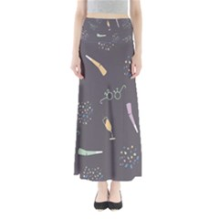 Bottle Party Glasses Maxi Skirts by Mariart