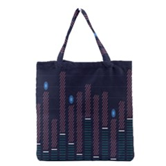 Plaid Line Circle Polka Green Red Blue Grocery Tote Bag by Mariart