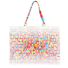 Random Sized Cube Multiple Plaid Color Rainbow Zipper Large Tote Bag by Mariart