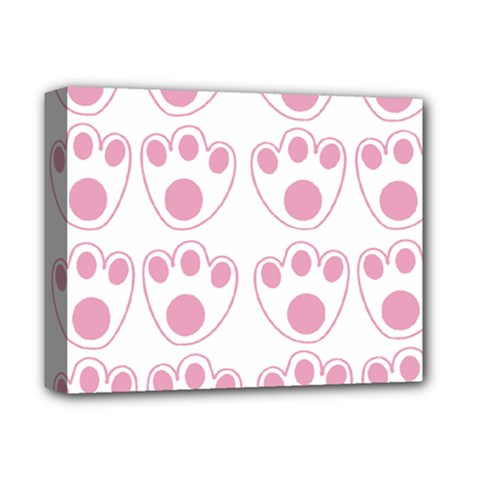 Rabbit Feet Paw Pink Foot Animals Deluxe Canvas 14  X 11