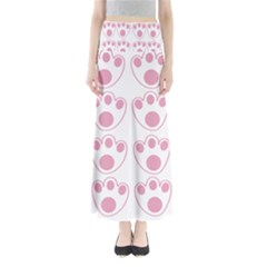 Rabbit Feet Paw Pink Foot Animals Maxi Skirts