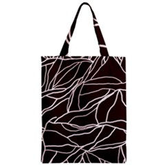 River System Line Brown White Wave Chevron Zipper Classic Tote Bag by Mariart