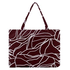 River System Line Brown White Wave Chevron Medium Zipper Tote Bag by Mariart