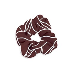 River System Line Brown White Wave Chevron Velvet Scrunchie by Mariart