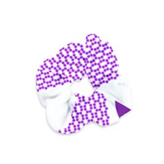 River Hyacinth Polka Circle Round Purple White Velvet Scrunchie by Mariart