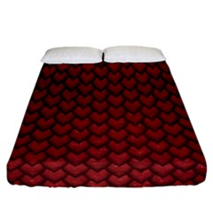 Red Snakeskin Snak Skin Animals Fitted Sheet (california King Size) by Mariart