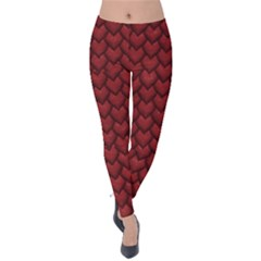 Red Snakeskin Snak Skin Animals Velvet Leggings