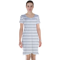 Renelle Box Waves Chevron Wave Line Short Sleeve Nightdress by Mariart