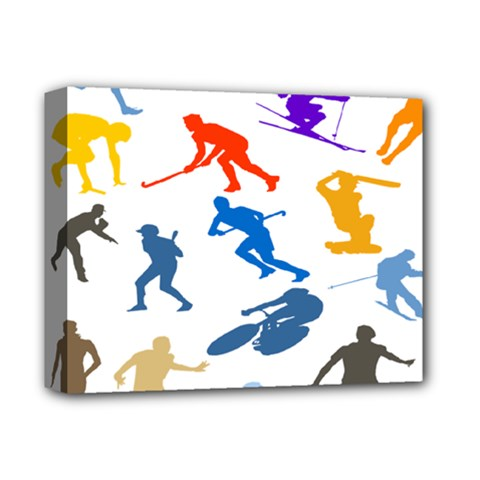 Sport Player Playing Deluxe Canvas 14  X 11  by Mariart