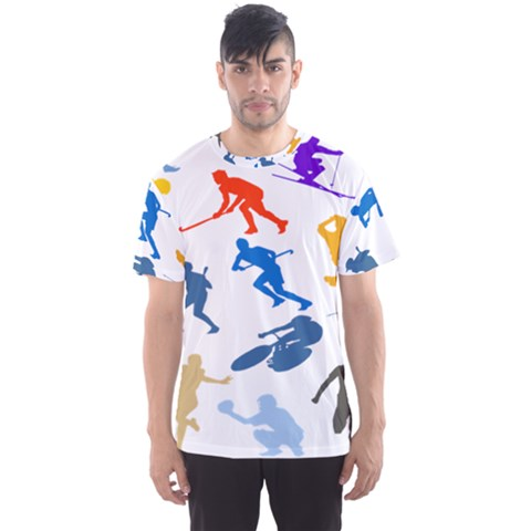 Sport Player Playing Men s Sport Mesh Tee by Mariart
