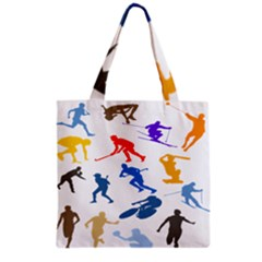Sport Player Playing Grocery Tote Bag by Mariart