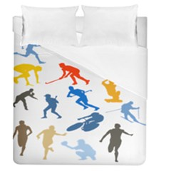Sport Player Playing Duvet Cover (queen Size) by Mariart