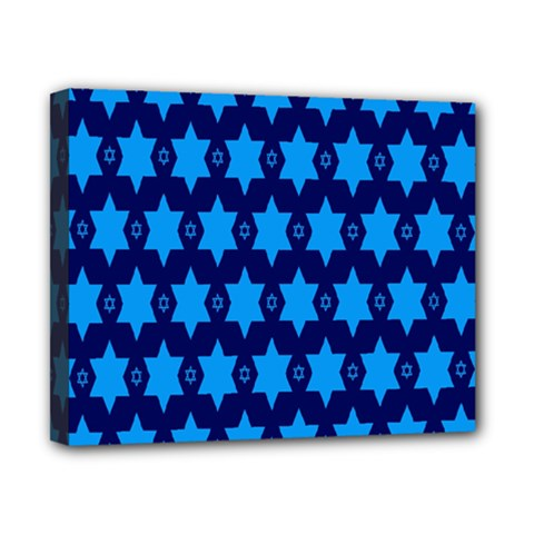 Star Blue Space Wave Chevron Sky Canvas 10  X 8  by Mariart