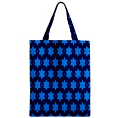 Star Blue Space Wave Chevron Sky Zipper Classic Tote Bag by Mariart