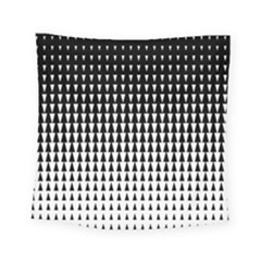 Triangle Black White Wave Chevron Square Tapestry (small)