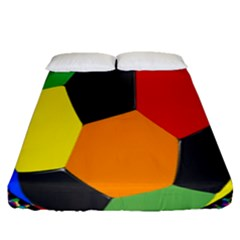 Team Soccer Coming Out Tease Ball Color Rainbow Sport Fitted Sheet (queen Size) by Mariart