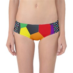 Team Soccer Coming Out Tease Ball Color Rainbow Sport Classic Bikini Bottoms by Mariart