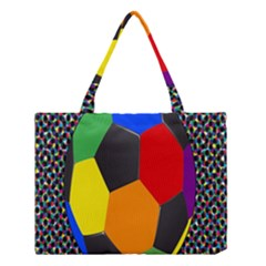 Team Soccer Coming Out Tease Ball Color Rainbow Sport Medium Tote Bag by Mariart