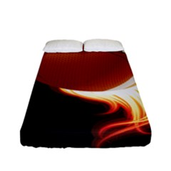 Super Football American Sport Fire Fitted Sheet (full/ Double Size) by Mariart
