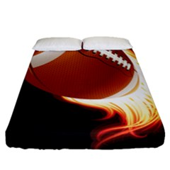 Super Football American Sport Fire Fitted Sheet (queen Size) by Mariart