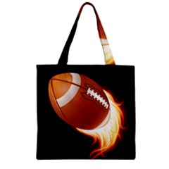 Super Football American Sport Fire Zipper Grocery Tote Bag by Mariart