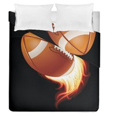 Super Football American Sport Fire Duvet Cover Double Side (queen Size) by Mariart