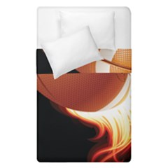 Super Football American Sport Fire Duvet Cover Double Side (single Size) by Mariart