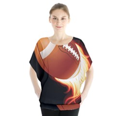 Super Football American Sport Fire Blouse by Mariart