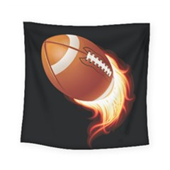 Super Football American Sport Fire Square Tapestry (small) by Mariart